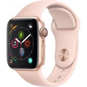 אונליין   Apple Watch Series 4 40mm   Gold Aluminium   Pink Sand Sport Band