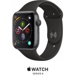 אונליין   Apple Watch Series 4 44mm   Space Grey Aluminium   Black Sport Band