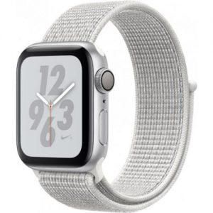 אונליין   Apple Watch Nike+ Series 4 40mm   Silver Aluminium   Summit White Nike Sport Loop