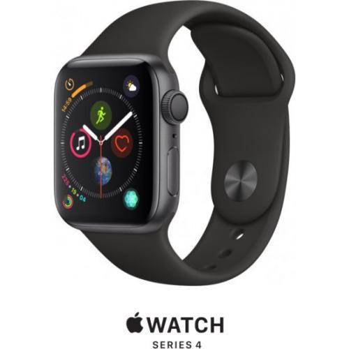 אונליין   Apple Watch Series 4 40mm   Space Grey Aluminium   Black Sport Band