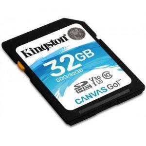 אונליין   Kingston Canvas Go SDHC U3 UHS-I SDG/32GB -  32GB