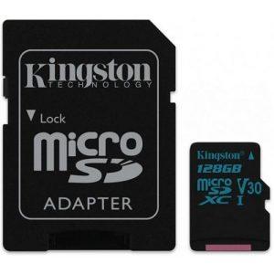 אונליין   Kingston Canvas Go Micro SDXC U3 UHS-I SDCG2/128GB -  128GB