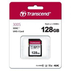 אונליין   Transcend 300S Secure-Digital SDXC UHS-I U3 TS128GSDC300S -  128GB