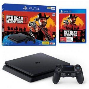 אונליין   Sony PlayStation 4 Slim 500GB -    Red Dead Redemption 2
