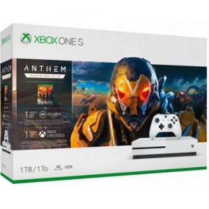 אונליין   Microsoft Xbox One S -  1TB   Anthem Legion Of Dawn Edition