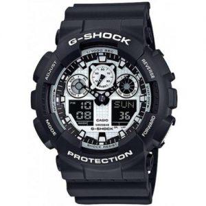 אונליין   -   Casio G-Shock GA-100BW-1A -