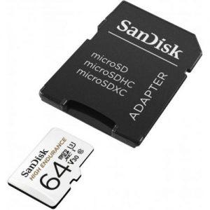 אונליין   SanDisk High Endurance Micro SDXC UHS-I SDSQQNR-064G -  64GB