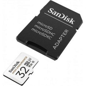 אונליין   SanDisk High Endurance Micro SDHC UHS-I SDSQQNR-032G -  32GB