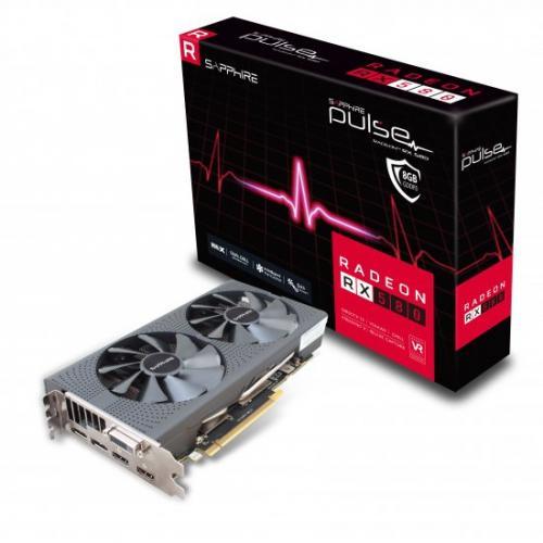 אונליין   Sapphire Radeon RX 580 PULSE OC 8GB GDDR5 DVI 2xHDMI 2xDP PCI-E