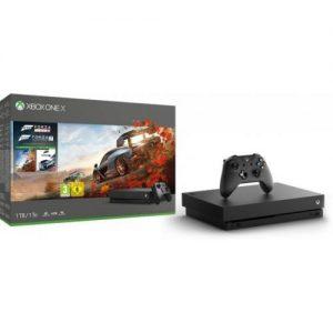 אונליין   Microsoft Xbox One X -  1TB   Forza Horizon 4 + Forza Motorsport 7