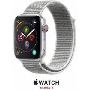 אונליין   Apple Watch Series 4 GPS + Cellular 40mm   Silver Aluminium   Seashell Sport Loop