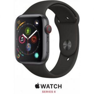 אונליין   Apple Watch Series 4 GPS + Cellular 40mm   Space Grey Aluminium   Black Sport Band