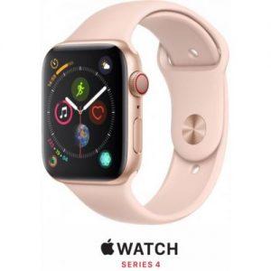אונליין   Apple Watch Series 4 GPS + Cellular 44mm   Gold Aluminium   Pink Sand Sport Band