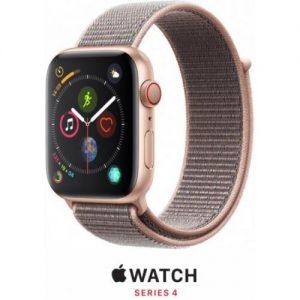 אונליין   Apple Watch Series 4 GPS + Cellular 44mm   Gold Aluminium   Pink Sand Sport Loop