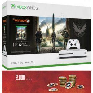 אונליין   Microsoft Xbox One S -  1TB   The Division 2   -Apex Legends