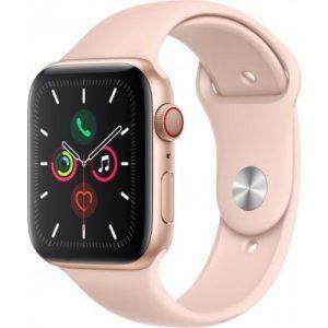 אונליין   Apple Watch Series 5 GPS + Cellular 44mm   Gold Aluminium   Pink Sand Sport