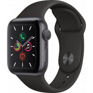 אונליין   Apple Watch Series 5 GPS 40mm   Space Grey Aluminium   Black Sport