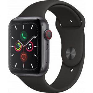 אונליין   Apple Watch Series 5 GPS + Cellular 44mm   Space Grey Aluminium   Black Sport