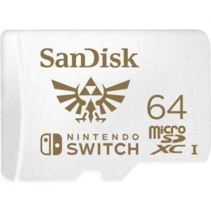 אונליין   - SanDisk Micro SDXC SDSQXAT-064G-GNCZN Nintendo Switch -  64GB