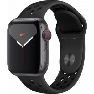 אונליין   Apple Watch Nike Series 5 GPS + Cellular 40mm   Space Grey Aluminium   Anthracite/Black Nike Sport