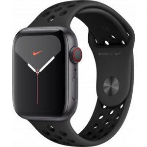 אונליין   Apple Watch Nike Series 5 GPS + Cellular 44mm   Space Grey Aluminium   Anthracite/Black Nike Sport