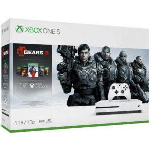 אונליין   Microsoft Xbox One S -  1TB    Gears Of War 5/3/2 + Gears Of War Ultimate