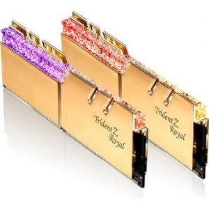 אונליין   G.Skill Trident Z Royal RGB Gold 2x16GB DDR4 4000Mhz CL19