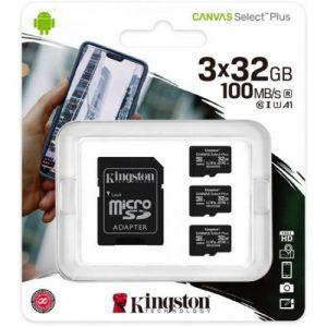 אונליין  3     Kingston Micro SDHC Canvas Select Plus UHS-I SDCS2/32GB-3P1A -  32GB