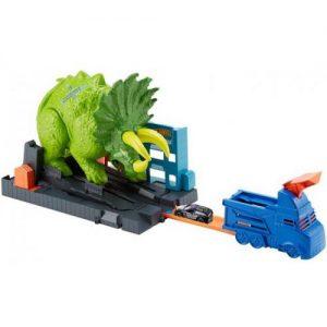 אונליין   Hot Wheels Smashin Triceratops Playset
