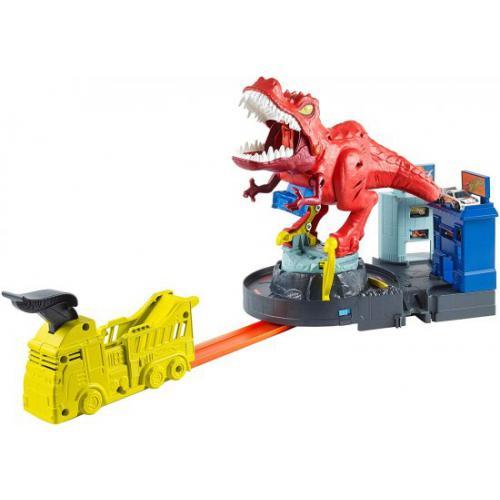 אונליין   Hot Wheels City T-Rex Rampage Playset