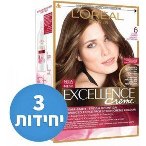 אונליין   #6 Loreal Paris Excellence Cream    - 3