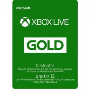 אונליין  Xbox Live Gold Membership -   12   24