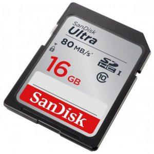 אונליין   SanDisk Ultra 533x Secure-Digital SDHC SDSDUNC-016G -  16GB