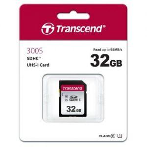 אונליין   Transcend 300S Secure-Digital SDHC UHS-I U1 TS32GSDC300S -  32GB