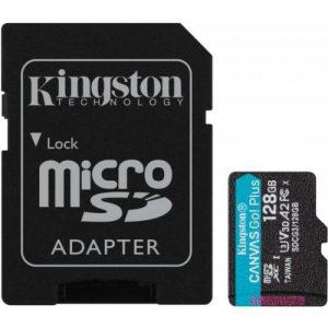 אונליין   Kingston Micro SDXC Canvas Go Plus UHS-I SDCG3/128GB -  128GB -   SD