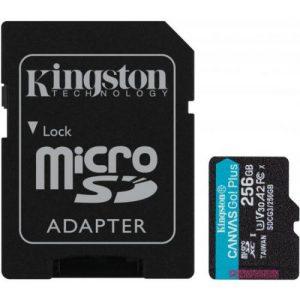 אונליין   Kingston Micro SDXC Canvas Go Plus UHS-I SDCG3/256GB -  256GB -   SD