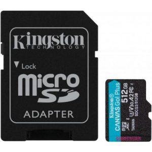 אונליין   Kingston Micro SDXC Canvas Go Plus UHS-I SDCG3/512GB -  512GB -   SD