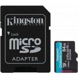 אונליין   Kingston Micro SDXC Canvas Go Plus UHS-I SDCG3/64GB -  64GB -   SD