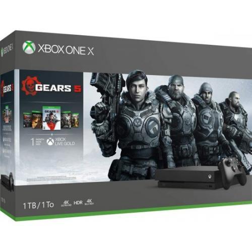 אונליין   Microsoft Xbox One X -  1TB   Gears Of War 5/3/2 + Gears Of War Ultimate
