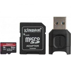 אונליין   Kingston Micro SDXC Canvas React Plus UHS-II MLPMR2/64GB -  64GB -     SD