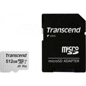 אונליין   Transcend 300S Micro SDXC UHS-I U3A1 TS512GUSD300S-A -  512GB -   SD