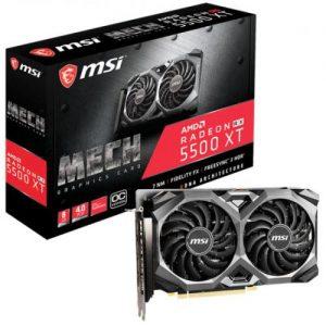 אונליין   MSI Radeon RX 5500 XT MECH 8GB OC GDDR6 HDMI 3xDP