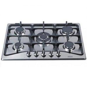 אונליין כיריים גז 5 להבות בישול בגימור נירוסטה Delonghi NDG-79X - אחריות יבואן רשמי ניופאן