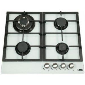 אונליין כיריים גז 4 להבות בישול בגימור זכוכית לבנה Ly Vent HOT665WH