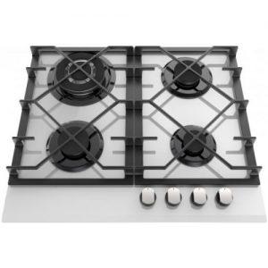 אונליין כיריים גז 4 להבות בישול בגימור זכוכית לבנה Ly Vent HOT667WH