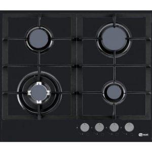 אונליין כיריים גז 4 להבות בישול בגימור זכוכית שחורה Ly Vent HOT656BL