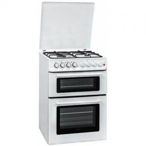 אונליין תנור משולב כיריים 96 ליטר בנוי דו תאי 5+6 תוכניות Normande ND-66- צבע לבן