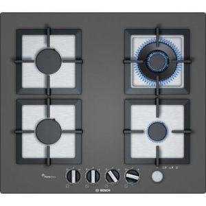 אונליין כיריים גז 4 להבות בישול Bosch Serie 6 PPH6A9M20Y FlameSelect - בגימור זכוכית מחוסמת בצבע כסוף כהה - שנה אחריות יבואן רשמי BSH