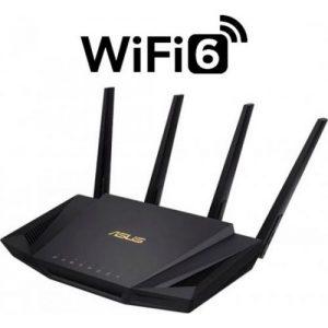 אונליין  Asus RT-AX58U 802.11ax Dual Band Wireless Gaming 3000Mbps