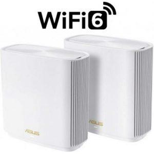 אונליין  (2 ) Asus ZenWIFI XT8 AX6600 802.11ax Tri-Band Mesh Wireless WiFi 6 6600Mbps -